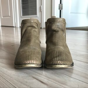 Restricted Perforated Taupe Booties
